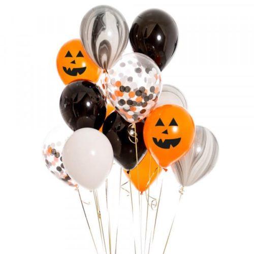 Связка из воздушных шаров на Хеллоуин с Тыквами