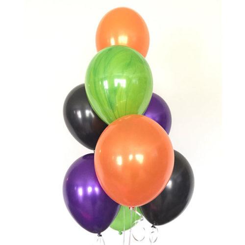Связка из 7 воздушных шаров на Хеллоуин Ассорти