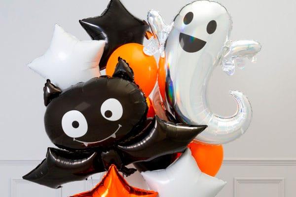 Связки из воздушных шаров к Хеллоуину