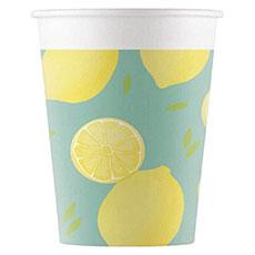 Стаканы 200 мл Лимоны 8 штук