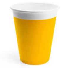 Стаканы 200 мл ЭКО Yellow 8 штук