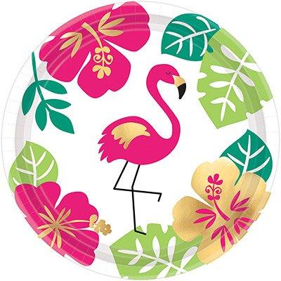 Тарелка 17 см ALOHA Фламинго 8 штук