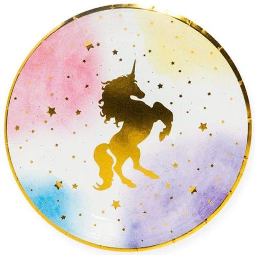 Тарелка 18 см Звездный единорог 6 штук