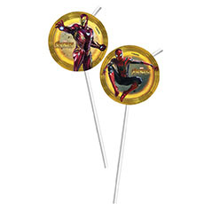 Трубочка для коктейля Мстители Инфинит 24 см 6 штук