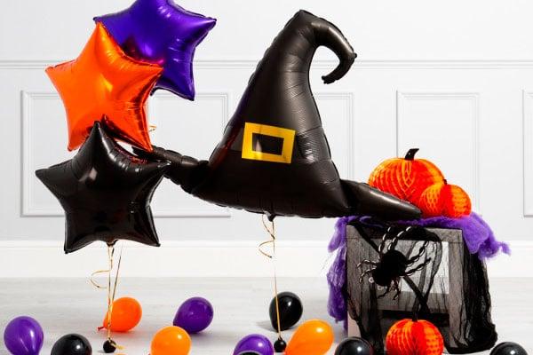 Фотозона из воздушных шаров на Хеллоуин