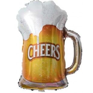 Шар 33 см Мини-фигура Пиво в кружке