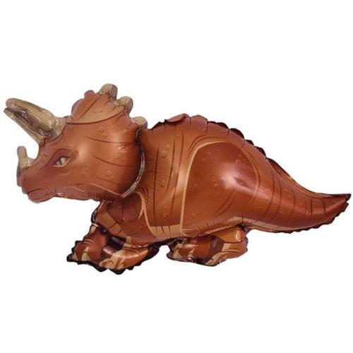 Шар 36 см Мини-фигура Динозавр Трицератопс