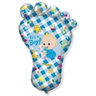 Шар 36 см Мини-фигура Ножка малыша Голубой