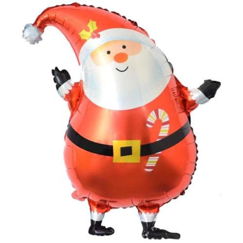 Шар 36 см Мини-фигура Санта в красном колпачке