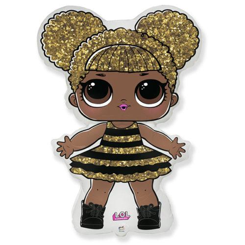 Шар 41 см Мини-фигура Кукла ЛОЛ LOL Сияющая Королева
