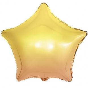 Шар 46 см Звезда Желтый Градиент