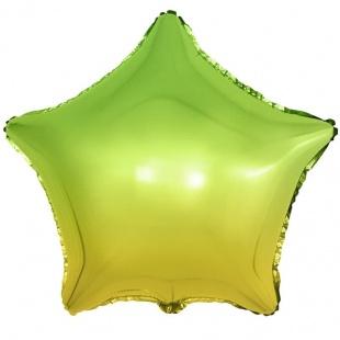 Шар 46 см Звезда Зеленый Градиент