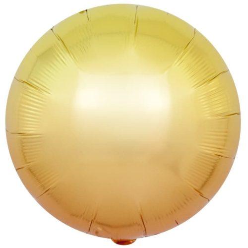 Шар 46 см Круг Желтый Градиент