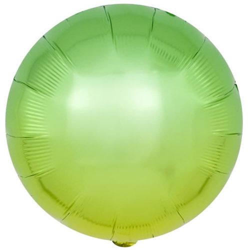 Шар 46 см Круг Зеленый Градиент