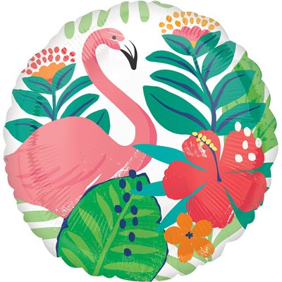 Шар 46 см Круг ALOHA Фламинго