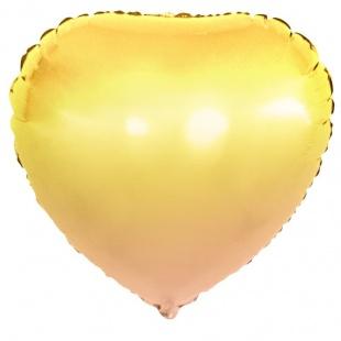 Шар 46 см Сердце Желтый Градиент