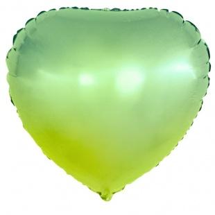 Шар 46 см Сердце Зеленый Градиент