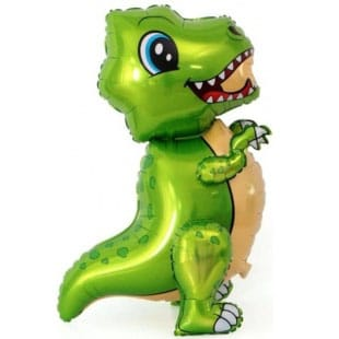 Шар 64 см Ходячая Фигура Маленький динозавр Зеленый
