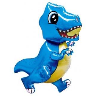 Шар 64 см Ходячая Фигура Маленький динозавр Синий