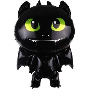 Шар 86 см Фигура Маленький дракон Черный