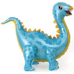 Шар 99 см Ходячая Фигура Динозавр Стегозавр Голубой