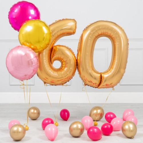 Комплект Золото и Розовый на 60 лет