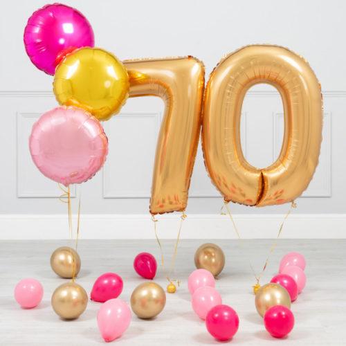 Комплект Золото и Розовый на 70 лет
