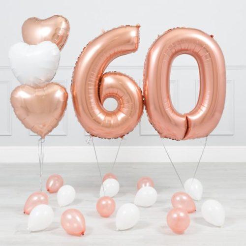 Комплект Розовое Золото и Белый на 60 лет