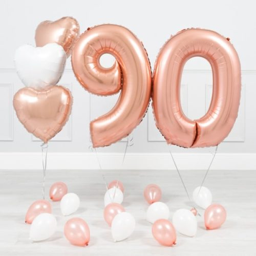 Комплект Розовое Золото и Белый на 90 лет