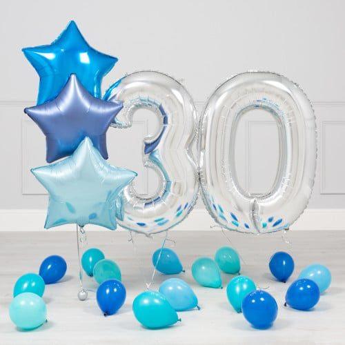 Комплект Серебро и Голубой на 30 лет