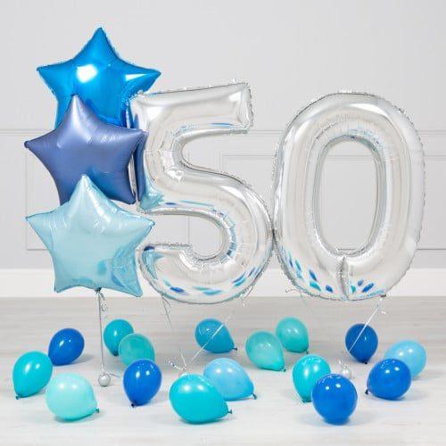 Комплект Серебро и Голубой на 50 лет