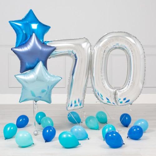 Комплект Серебро и Голубой на 70 лет