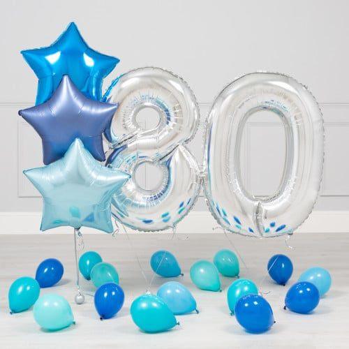 Комплект Серебро и Голубой на 80 лет