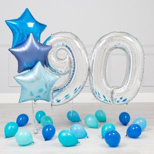 Комплект Серебро и Голубой на 90 лет