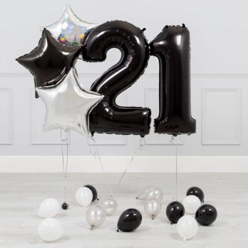 Комплект Черный и Серебро на 21 год