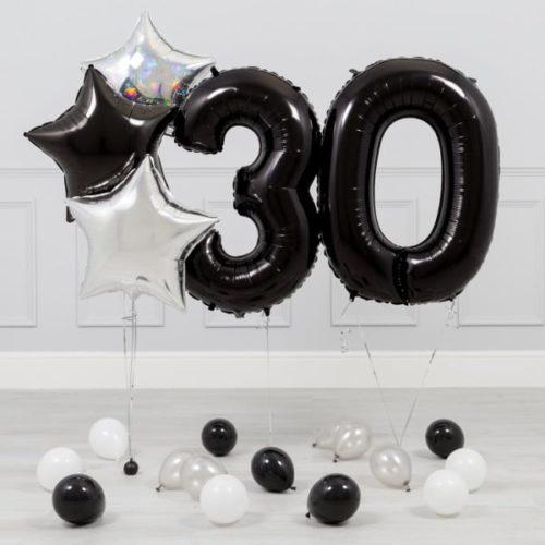 Комплект Черный и Серебро на 30 лет