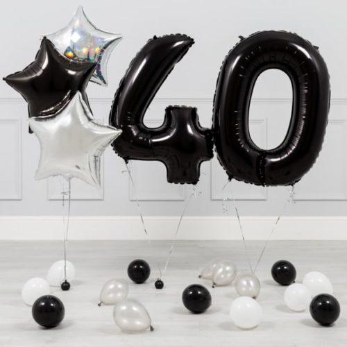 Комплект Черный и Серебро на 40 лет