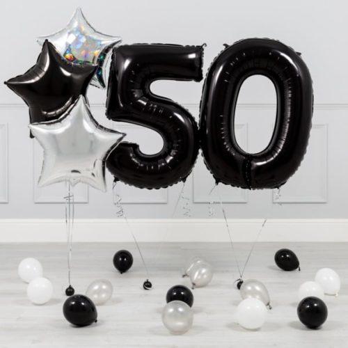 Комплект Черный и Серебро на 50 лет