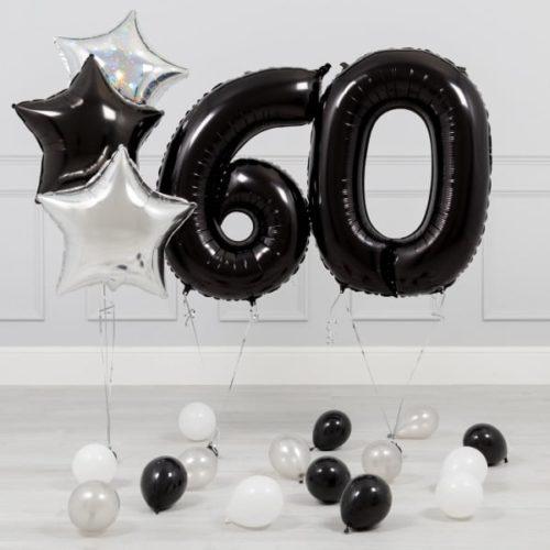 Комплект Черный и Серебро на 60 лет