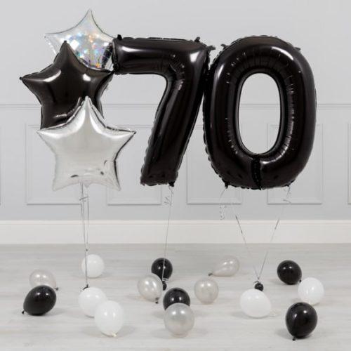 Комплект Черный и Серебро на 70 лет