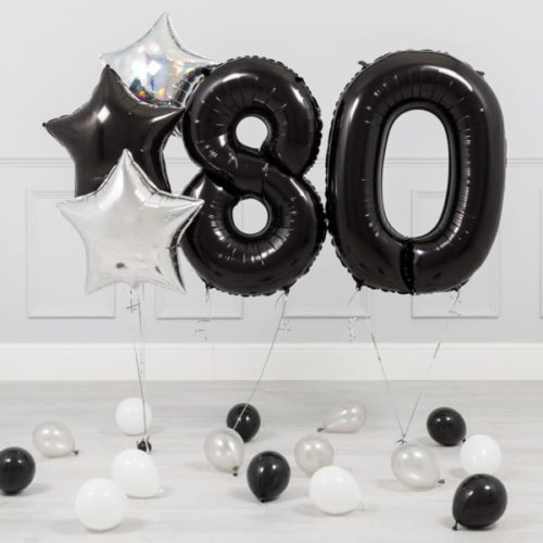 Комплект Черный и Серебро на 80 лет
