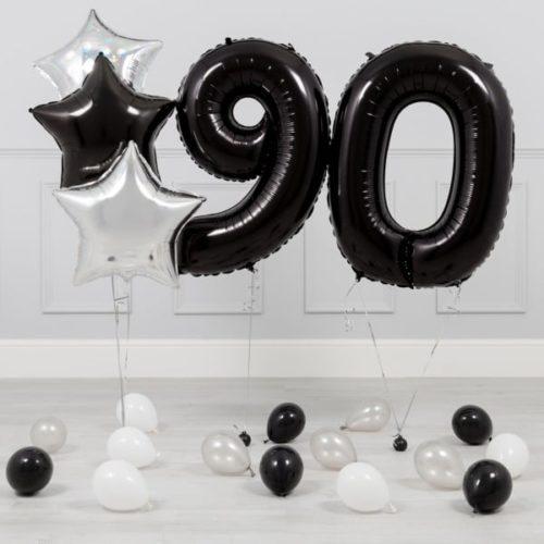 Комплект Черный и Серебро на 90 лет