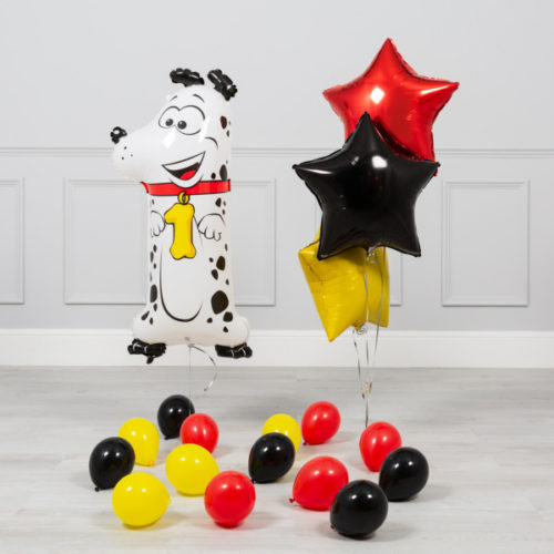 Комплект из шаров на ДР Цифра 1 Собака
