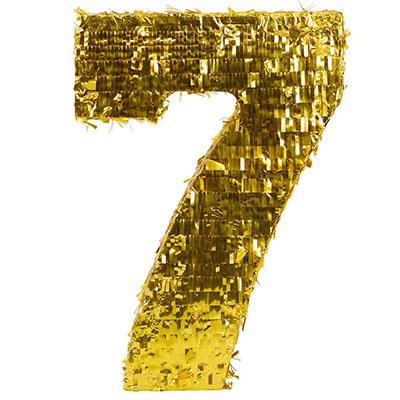Пиньята Цифра 7 Золото 35 х 8 х 50 см