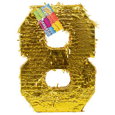 Пиньята Цифра 8 Золото 35 х 8 х 50 см