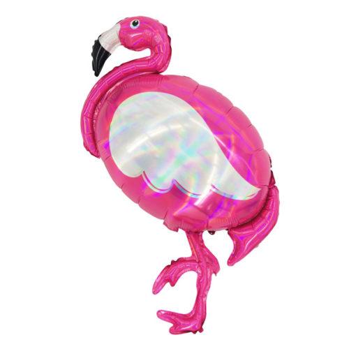 Шар 100 см Фигура Фламинго голография