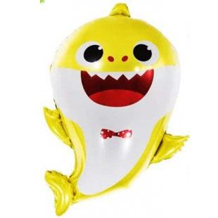 Шар 33 см Мини-фигура Акулья семейка Малыш Желтый