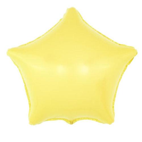 Шар 46 см Звезда Макарунс Желтый