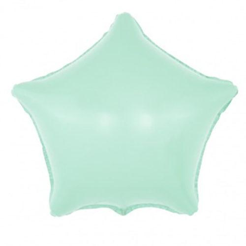 Шар 46 см Звезда Макарунс Светло-голубой