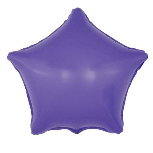 Шар 46 см Звезда Макарунс Фиолетовый